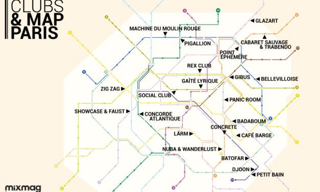 Mapa das baladas em Paris